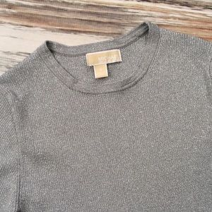 Michael Kors Sweater Crewneck Silver Gray Small